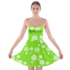 Polka dots Strapless Bra Top Dress