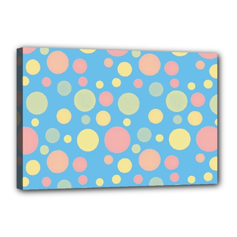 Polka Dots Canvas 18  X 12  by Valentinaart