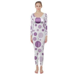 Polka Dots Long Sleeve Catsuit by Valentinaart