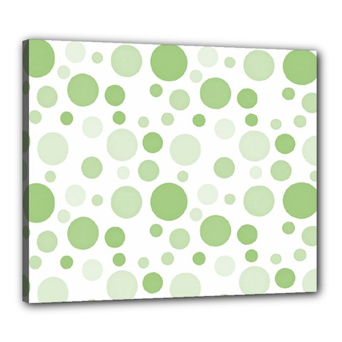 Polka Dots Canvas 24  X 20  by Valentinaart