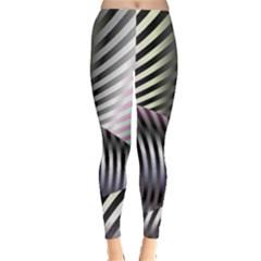 Fractal Zebra Pattern Leggings  by Simbadda
