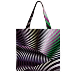 Fractal Zebra Pattern Grocery Tote Bag by Simbadda