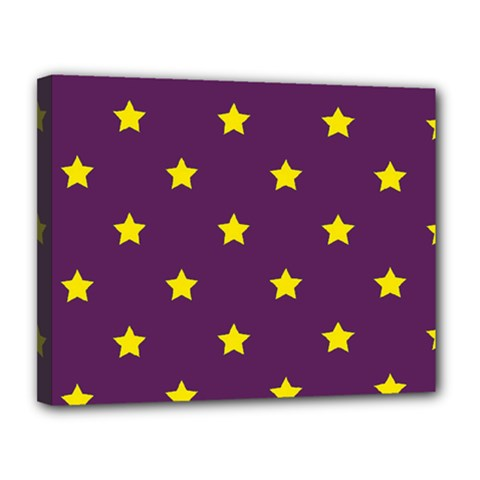Stars Pattern Canvas 14  X 11  by Valentinaart