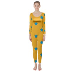 Stars Pattern Long Sleeve Catsuit by Valentinaart
