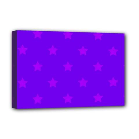Stars Pattern Deluxe Canvas 18  X 12   by Valentinaart