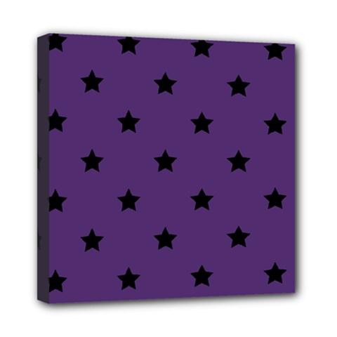 Stars Pattern Mini Canvas 8  X 8  by Valentinaart