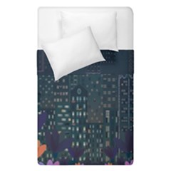 Urban Nature Duvet Cover Double Side (single Size) by Valentinaart