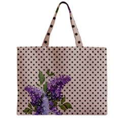 Vintage Lilac Zipper Mini Tote Bag by Valentinaart
