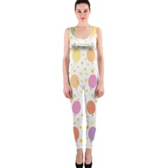 Balloon Star Rainbow Onepiece Catsuit by Mariart