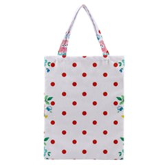 Flower Floral Polka Dot Orange Classic Tote Bag by Mariart