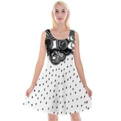 Batik Rain Black Flower Spot Reversible Velvet Sleeveless Dress by Mariart