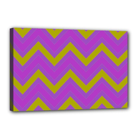 Zig Zags Pattern Canvas 18  X 12  by Valentinaart