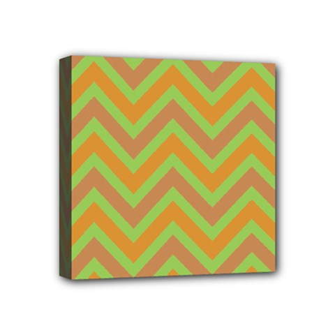Zig Zags Pattern Mini Canvas 4  X 4  by Valentinaart