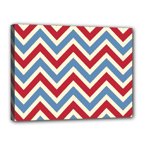 Zig Zags Pattern Canvas 16  X 12  by Valentinaart