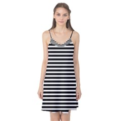 Horizontal Stripes Black Camis Nightgown by Mariart