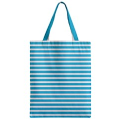Horizontal Stripes Blue Classic Tote Bag by Mariart