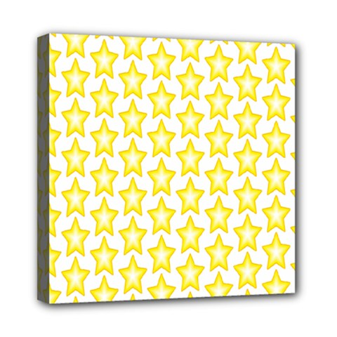Yellow Orange Star Space Light Mini Canvas 8  X 8  by Mariart