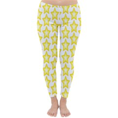 Yellow Orange Star Space Light Classic Winter Leggings by Mariart