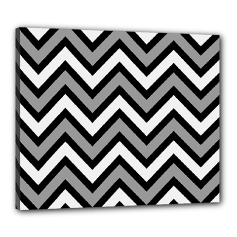 Zig Zags Pattern Canvas 24  X 20  by Valentinaart
