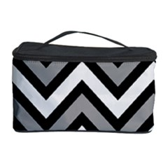Zig Zags Pattern Cosmetic Storage Case by Valentinaart
