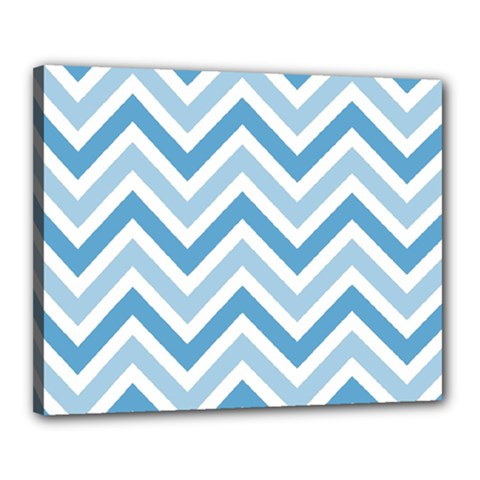Zig Zags Pattern Canvas 20  X 16  by Valentinaart