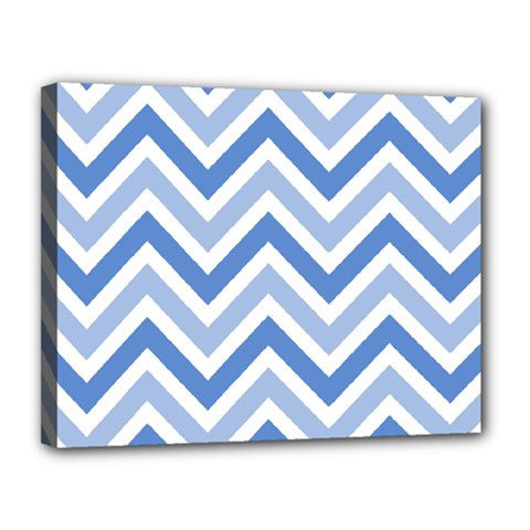 Zig Zags Pattern Canvas 14  X 11  by Valentinaart