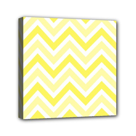 Zig Zags Pattern Mini Canvas 6  X 6  by Valentinaart