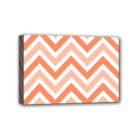 Zig Zags Pattern Mini Canvas 6  X 4  by Valentinaart