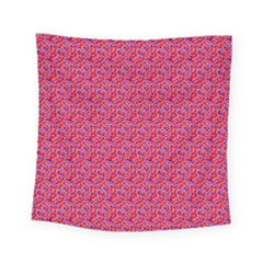 Red White And Blue Leopard Print  Square Tapestry (small) by PhotoNOLA
