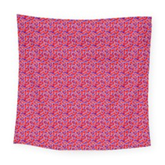 Red White And Blue Leopard Print  Square Tapestry (large) by PhotoNOLA