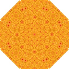 Solar Mandala  Orange Rangoli  Hook Handle Umbrella (medium) by bunart