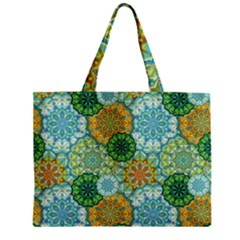 Forest Spirits  Green Mandalas  Mini Tote Bag by bunart