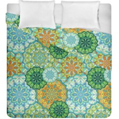 Forest Spirits  Green Mandalas  Duvet Cover Double Side (king Size) by bunart