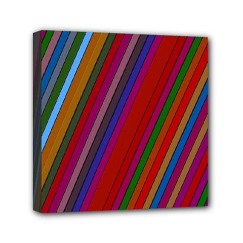 Color Stripes Pattern Mini Canvas 6  X 6  by Simbadda
