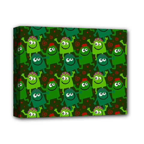 Seamless Little Cartoon Men Tiling Pattern Deluxe Canvas 14  X 11  by Simbadda