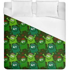 Seamless Little Cartoon Men Tiling Pattern Duvet Cover (King Size) by Simbadda