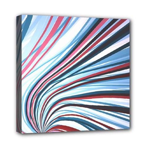 Wavy Stripes Background Mini Canvas 8  X 8  by Simbadda