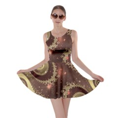 Space Fractal Abstraction Digital Computer Graphic Skater Dress