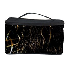 Golden Bows And Arrows On Black Cosmetic Storage Case by Simbadda