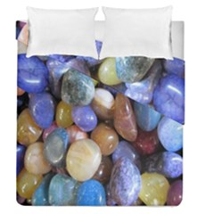 Rock Tumbler Used To Polish A Collection Of Small Colorful Pebbles Duvet Cover Double Side (Queen Size) by Simbadda