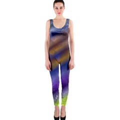 Fractal Color Stripes Onepiece Catsuit by Simbadda