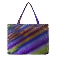 Fractal Color Stripes Medium Tote Bag by Simbadda