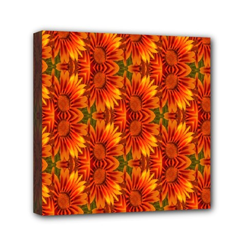Background Flower Fractal Mini Canvas 6  X 6  by Simbadda