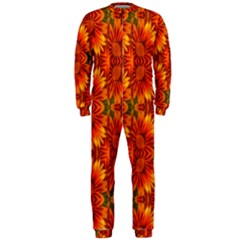 Background Flower Fractal OnePiece Jumpsuit (Men)  by Simbadda