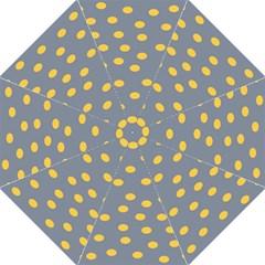 Limpet Polka Dot Yellow Grey Hook Handle Umbrellas (large) by Mariart