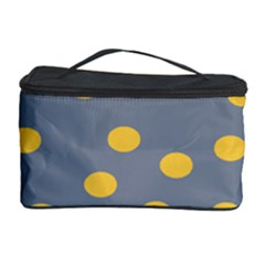 Limpet Polka Dot Yellow Grey Cosmetic Storage Case by Mariart