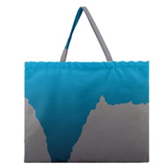 Mariana Trench Sea Beach Water Blue Zipper Large Tote Bag by Mariart