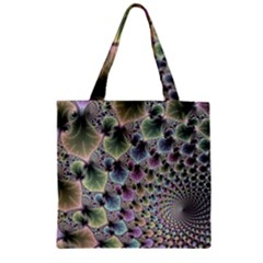 Beautiful Image Fractal Vortex Zipper Grocery Tote Bag by Simbadda