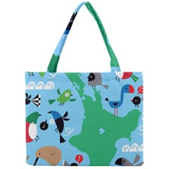 New Zealand Birds Detail Animals Fly Mini Tote Bag by Mariart