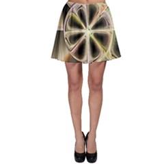 Background With Fractal Crazy Wheel Skater Skirt by Simbadda